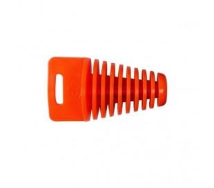 Rubber exhaust muffler plug