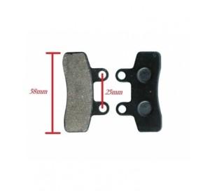 Brake pad double small piston