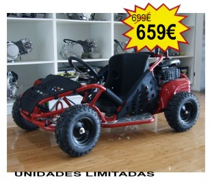 Mini Kart cross buggy 80cc 4t Ruedas 6""